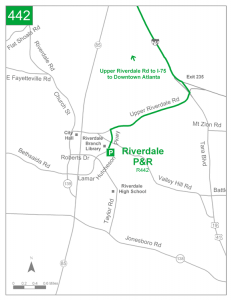 Riverdale Park and Ride detail map