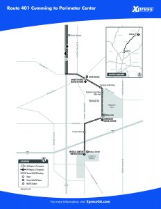 Route 401 Detail Map