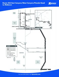 Route 423 detail map