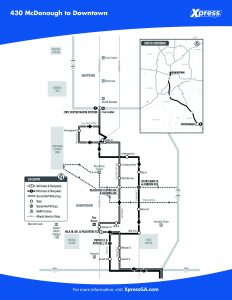 Route 430 detail map