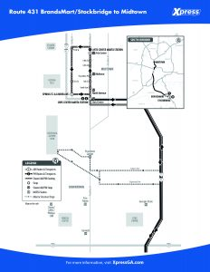 Route 431 detail map