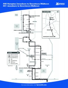 Route 440/441 detail map