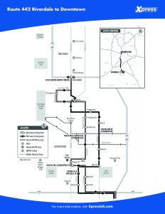 Route 442 detail map