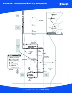 Route 490 detail map