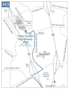 Town Center/Big Shanty Park and Ride detail map